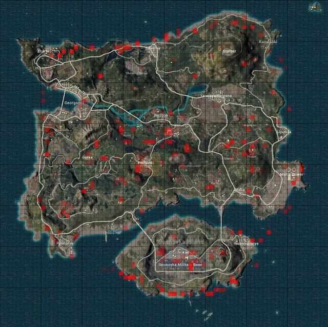 Những khu vực trong PUBG tuyệt đối đừng nên nhảy dù vào nếu muốn Top 1
