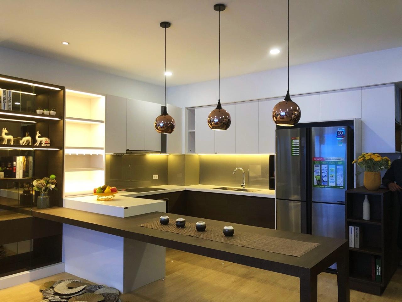 Phòng bếp chung cư Amber Riverside