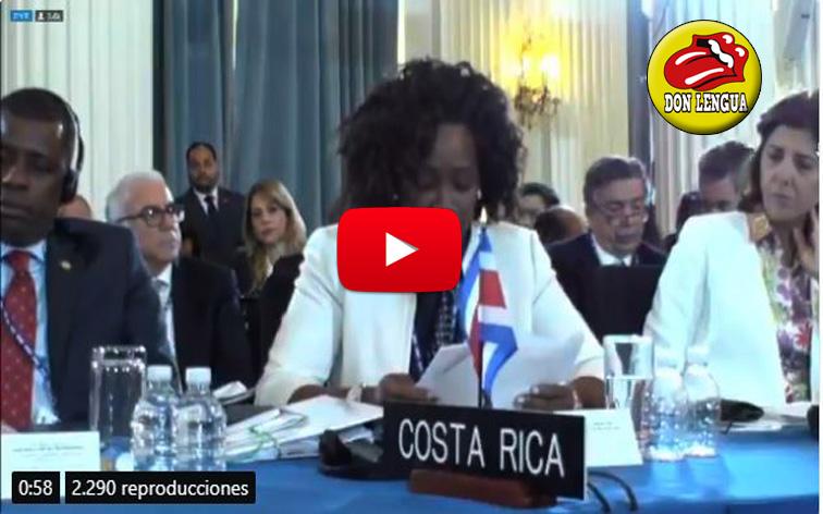 A Arreaza se le volaron los tapones al oír a Costa Rica en la OEA