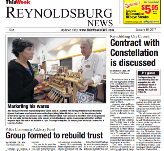Reynoldsburg council mulls contract with Constellation