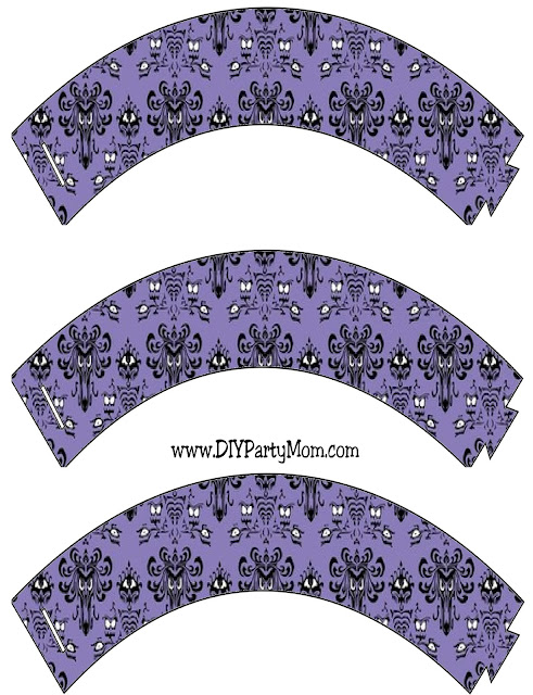Haunted Mansion Wallpaper Cupcake Wrappers