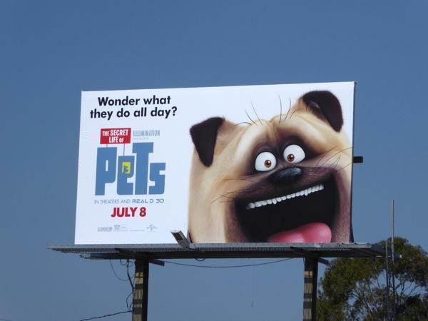 Secret Life of Pets Mel dog cat billboard