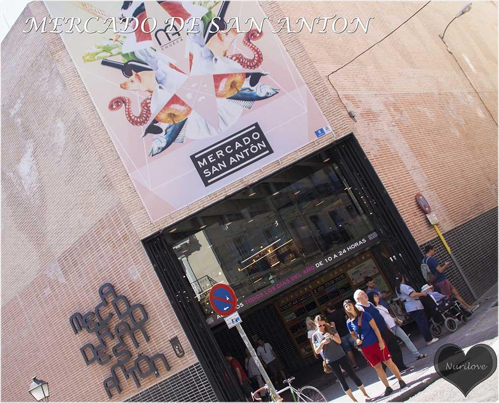 mercado de San Antón en el barrio de Chueca en Madrid