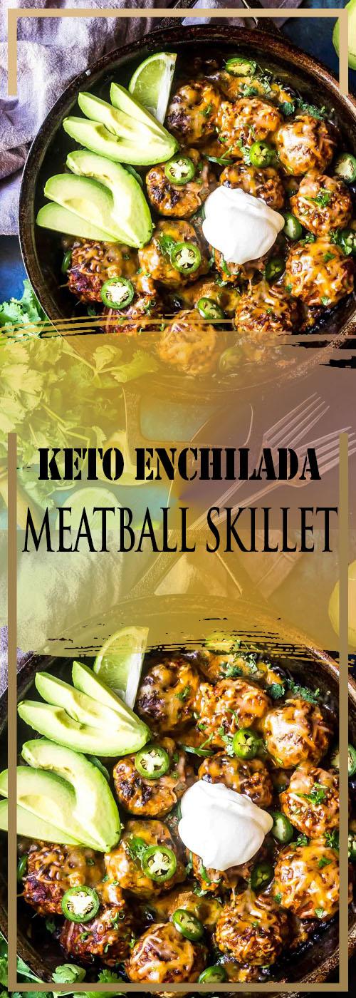 KETO ENCHILADA MEATBALL SKILLET RECIPE