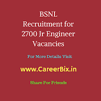 BSNL Recruitment for 2700 Jr Engineer Vacancies