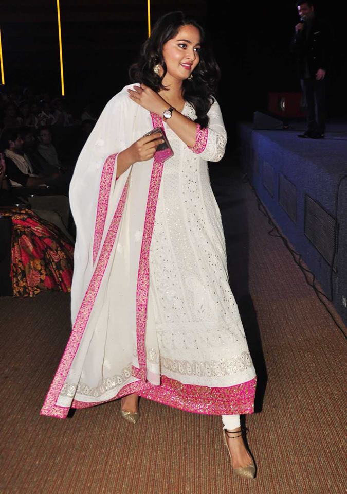 Actress Anushka Shetty at Baahubali Hindi Trailer Launch