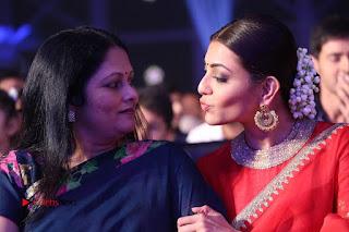 Actress Kajal Agarwal Stills in Red Saree at msavam Audio Launch   0151