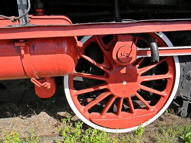 lokomotywa, napęd, czerwona, pociąg