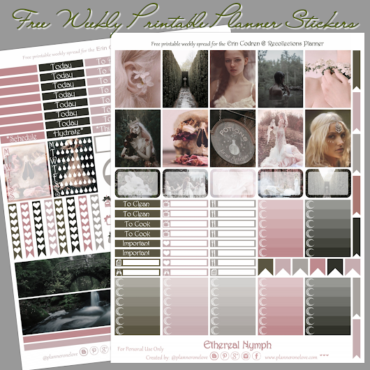 Planner Onelove: Free Ethereal Nymph Printable Planner Stickers For EC & Recollections Planner