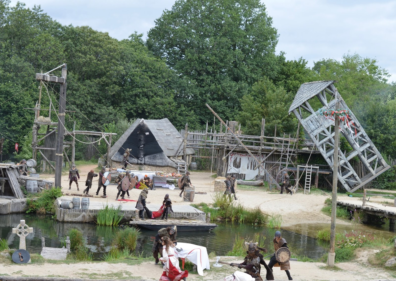 Puy du Fou Theme Park, France - - vikings show