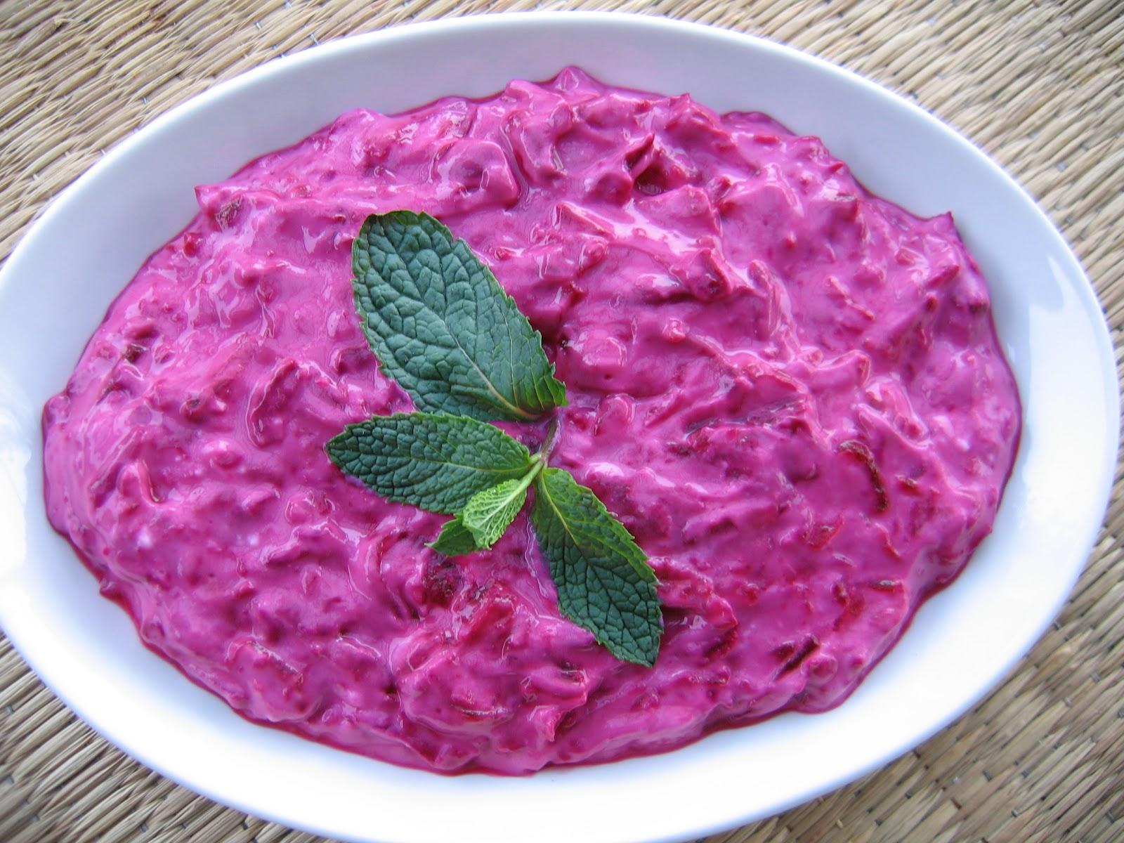 Yasemin S Kitchen Pink Sultan Beet Dip With Garlic Yogurt