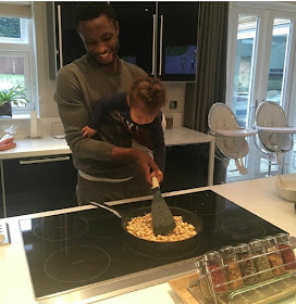 Adorable Photo Of Mikel Obi & Daughter Cooking