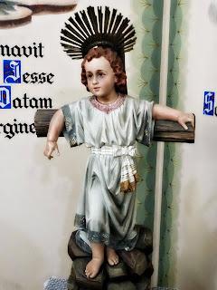 Menino Jesus em Sala do Santuário São Rafael