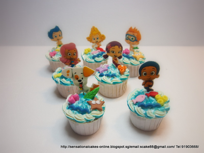 Bubble Guppies Cupcake Cake Ideas