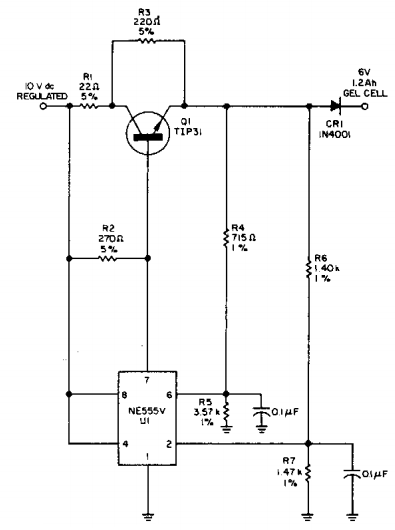 Build A Single Cell Charger Circuit Diagram