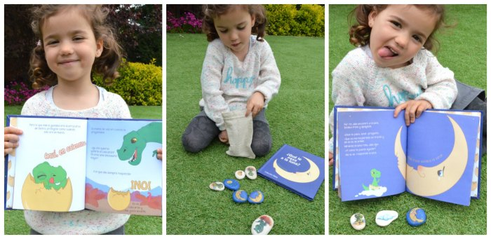 cuento infantil personalizado piedras pintadas a mano, fomentar lectura dia libro