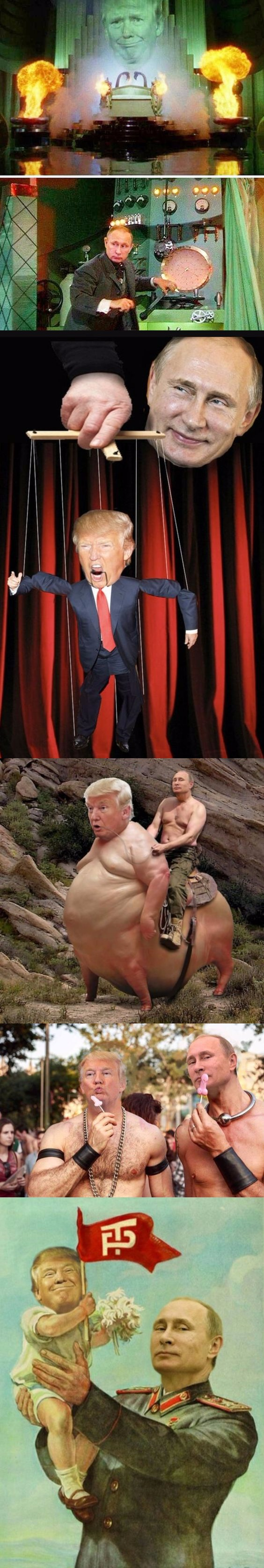Funny Putin Trump Dump Picture Collection Strip