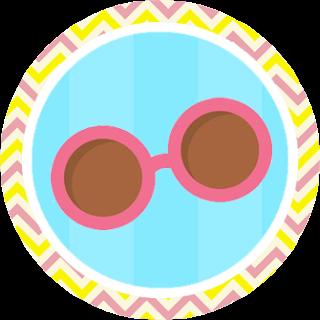 Toppers o Etiquetas de Fiesta de Nenas en las Piscina para imprimir gratis.