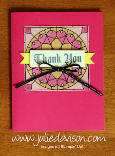 Stampin' Up! 6 Graceful Glass Vellum Card + Video ~ www.juliedavison.com