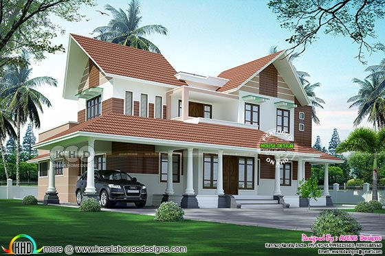 Modern sloping roof 4 bedroom home 2900 sq ft