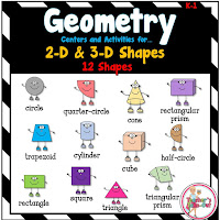 Geometry Centers using 2D and 3D Shapes
