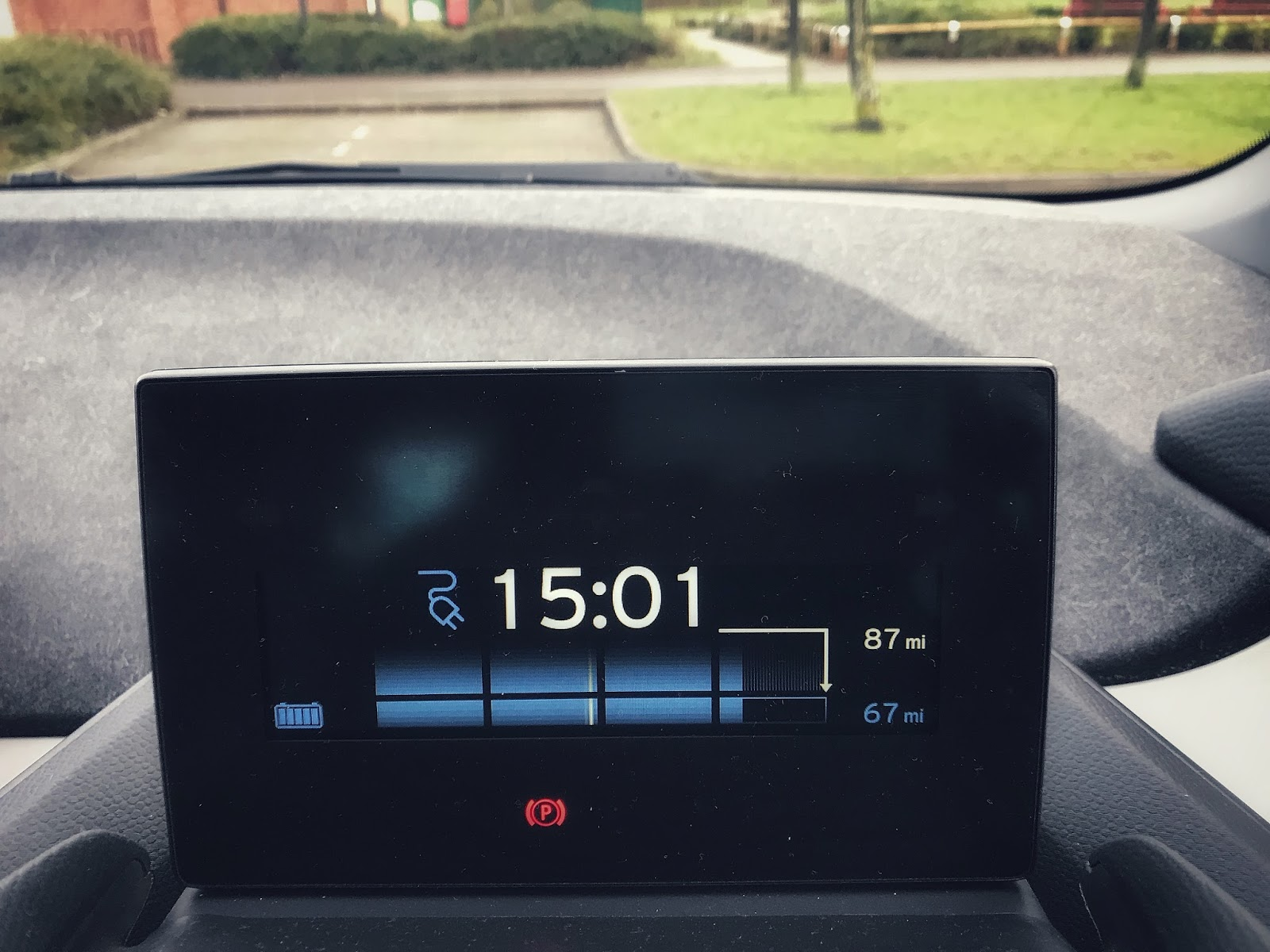 BMW i3 Electric Car Charge Status Interior Display