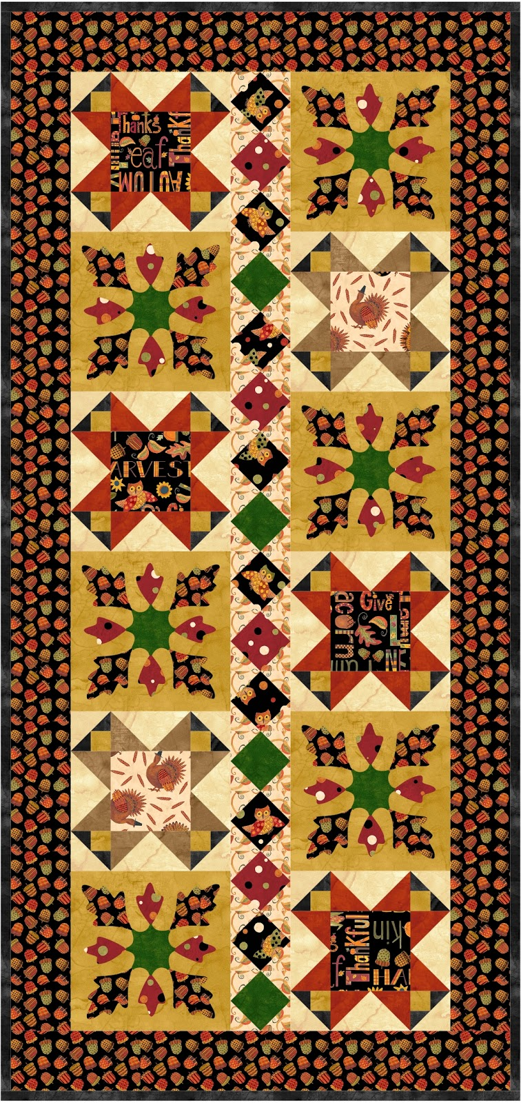 Pieced Brain: Give Thanks free quilt projects