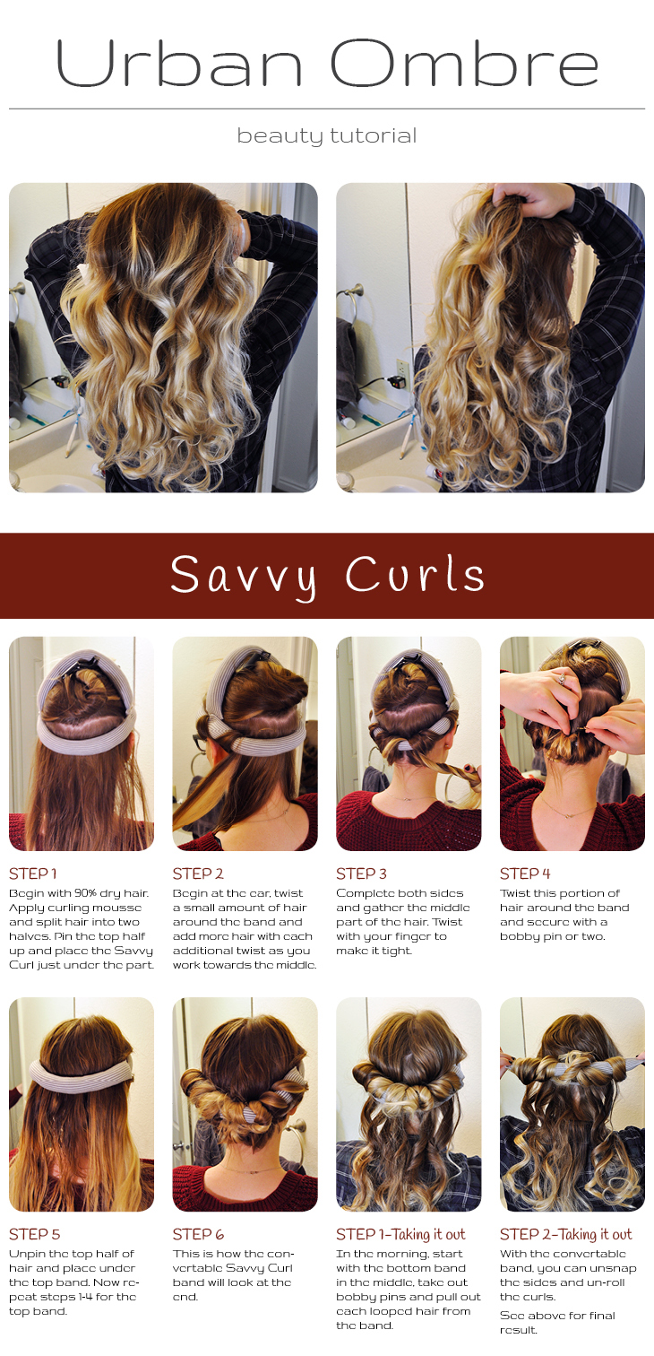 Detailed tutorial images and instructions on how to use Savvy Curls