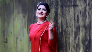 Azmeri Haque Badhon In Red Dress