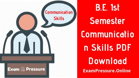B. Sc. 1st Year Communication Skills Notes, B.E. 1st Year Communication Skills Writing Practice Notes, B. Tech 1st Year Precis Writing PDF Notes