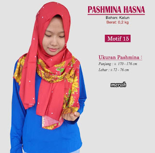 Pashmina monochrome murah bergaya modern dan trendy-hasna 15