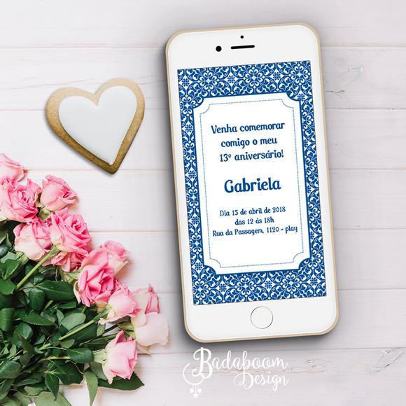Arabesco, convite, convite digital, aniversário, festa, arte festa, whatsapp