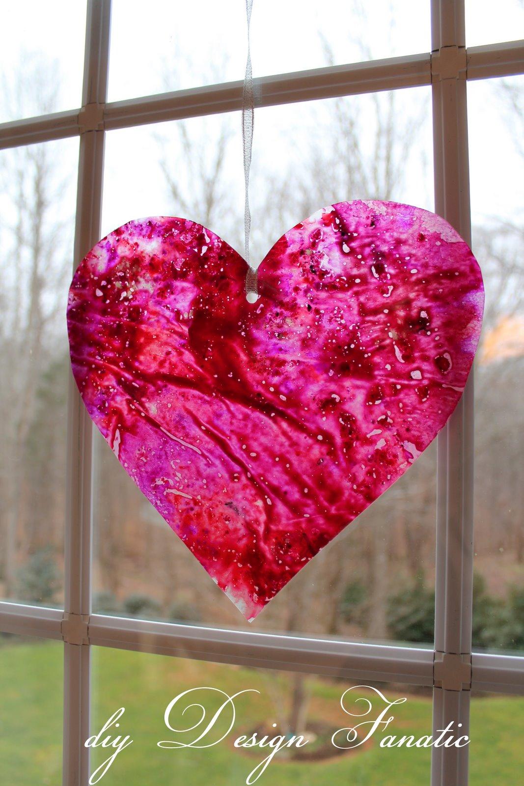 Diy Design Fanatic Wax Paper Crayon Hearts