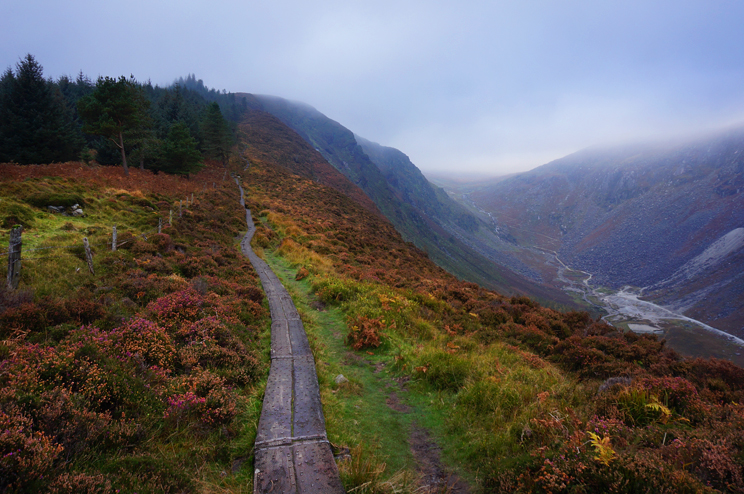 Autumn colours in Glendalough