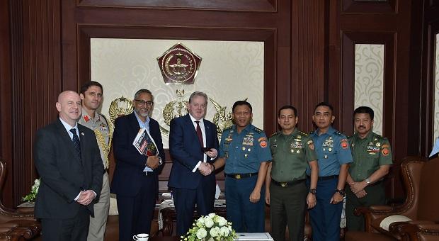 Kasum TNI Terima Kunjungan Menteri Muda Inggris