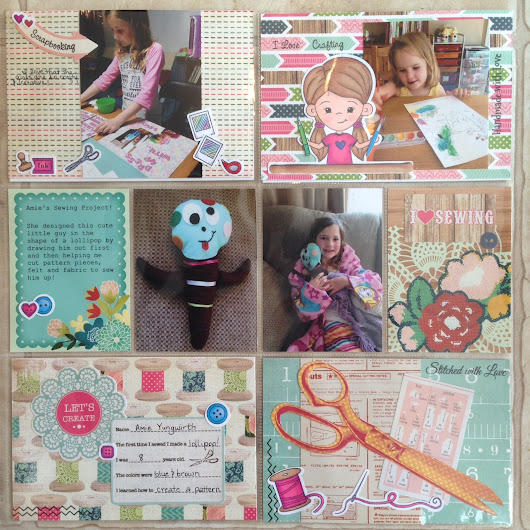 Crafty Pocket Page Scrapbook Layout!