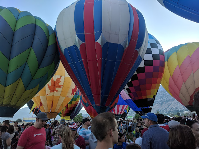 More Hot Air Balloons at the Freedom Festival Provo Utah