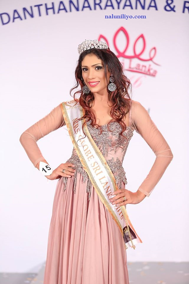 Mrs. Sri Lanka 2016 for Mrs. Globe  Himali Gunasekera