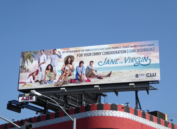 Jane the Virgin 2016 Emmy consideration billboard