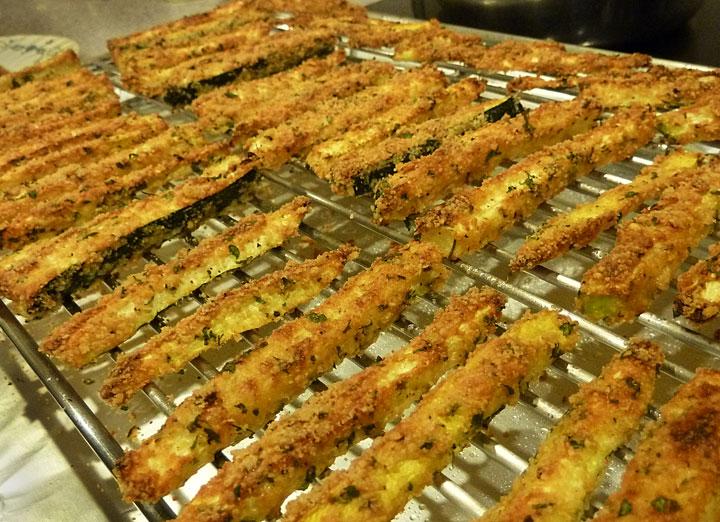 Paleo Baked Panko-Breaded Zucchini Fries