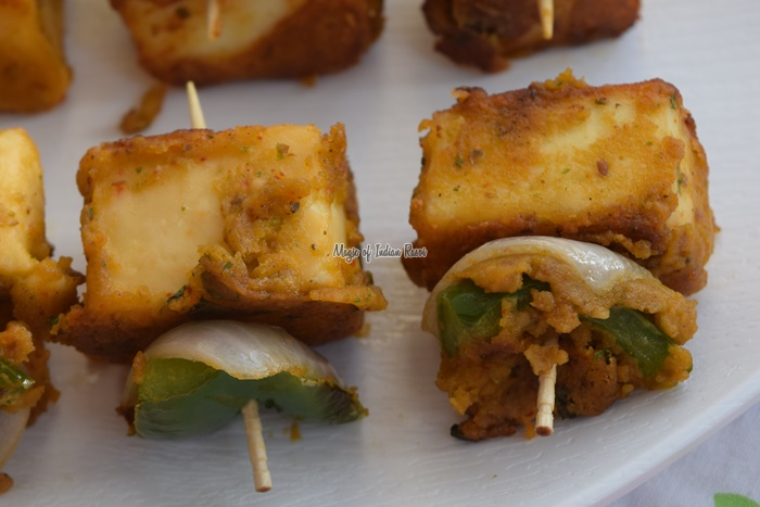 Paneer Tikka in Pan - Easy Party Starter Recipe - Magic of Indian Rasoi -Priya R