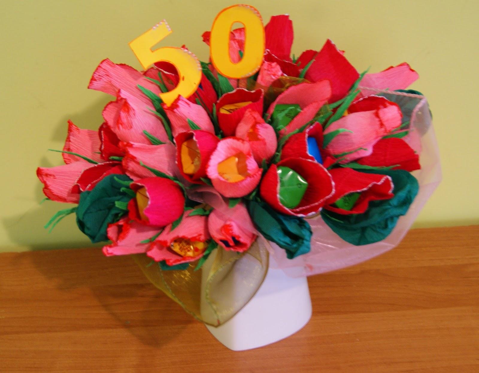 Bardzo dobryFantastyczny Rękodzieło - moja pasja w wolnym czasie : bukiet z 50 cukierków DQ22