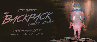 The BackPack Invisible Edition Resin Figure by Alex Pardee x Mighty Jaxx