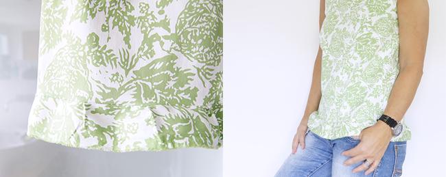 Ynas Design Blog | ärmellose Bluse mit leichter Rüschenkante
