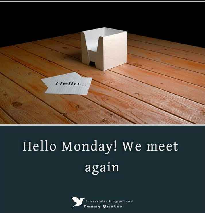 Hello Monday! We meet again