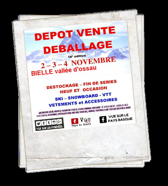 Braderie sports d'hiver Pyrénées Bielle 2018