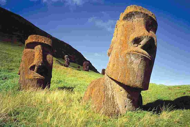 Easter Island of Pacific Ocean