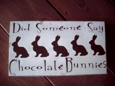 Chocolate bunny wood board