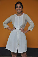 Radhika Cute Young New Actress in White Long Transparent Kurta ~  Exclusive Celebrities Galleries 095.JPG