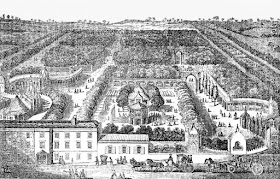 A map of Vauxhall Gardens from The Mirror (1830)